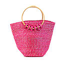pink sequin basket