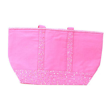 pink seq beachbag