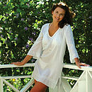 white beaded kaftan