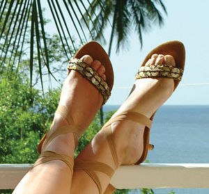Tanah Ankle Tie Sandals - summer footwear