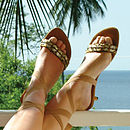 Tanah Ankle Tie Sandals