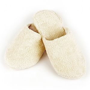 Small Natural Cotton Slippers - shoes