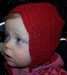 Hand Knitted Cotton Bonnet Hat - babies' hats