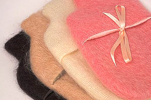 Mohair Hot Water Bottle with bottle - hot water bottles & covers
