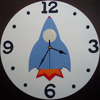 Boys Rocket clock
