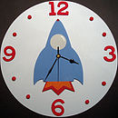 Rocket Clock Red