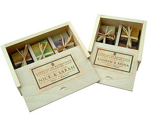 Personalised Box of Natural Handmade Soaps - gift sets
