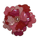Pink Sequin Flower Brooch
