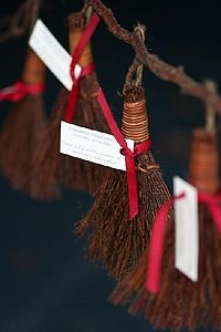 Small Cinnamon Scented Brush Decoration - tree decorations