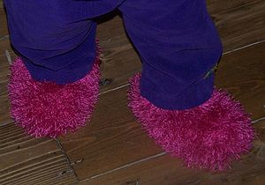 Yeti Fluffy Baby Booties - footwear