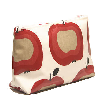 Apple Print PVC Cosmetics Bag