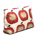 Apple Print PVC Wash Bag
