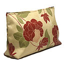 Wash Bag Red Floral PVC
