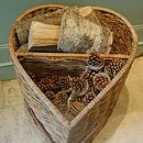 Heart-Shaped Log Basket