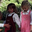 Needlecord dungarees for girls