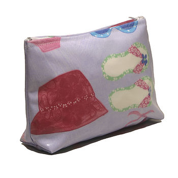 Summer Print PVC Cosmetics Bag