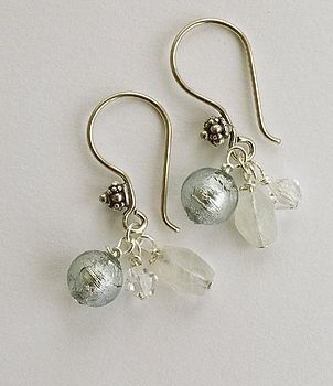 silver murano earrings