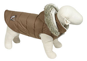Brown Puffa Dog Coat - dogs
