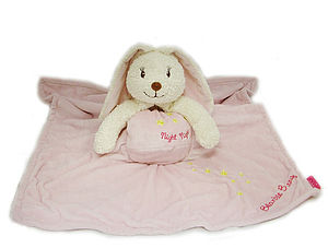 Personalised Pink Blankie Bunny - cuddly toys