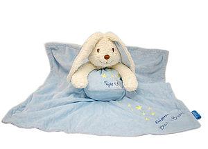Personalised Blue Blankie Bunny - soft toys & dolls