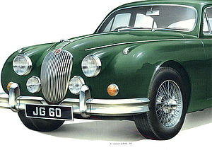 Personalised Jaguar Mk2 Print
