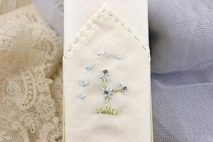 Hand Embroidered Classic Flower Hankie - handkerchiefs