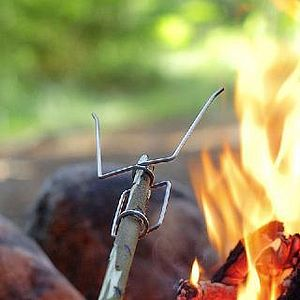Outdoor Camping Firefork - autumn evenings