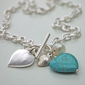 Sterling Silver And Turquoise Heart Necklace - necklaces & pendants