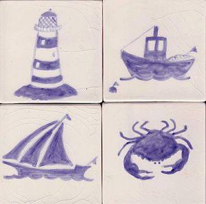 Sea Themed Tiles - ceramics