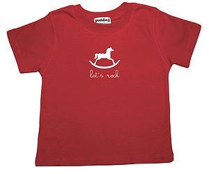 Organic Let's Rock T-shirt - boy's t-shirts