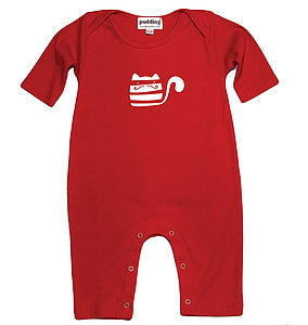 Organic Cat Burglar Babygrow - clothing