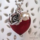 Ruby Murano Glass Heart Necklace