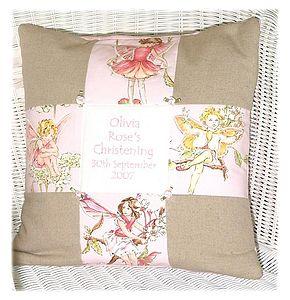 Flower Fairy* Christening Cushion