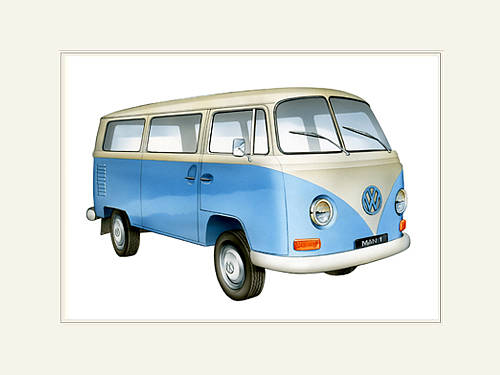 PERSONALISED VW CAMPERVAN PRINT Campervan2