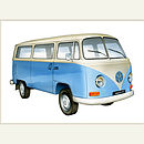 Personalised VW Campervan Print