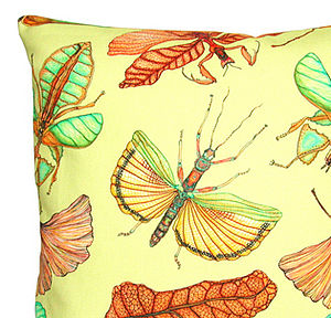 Insects: Cushion - bedroom