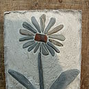 Terracotta Centre Flower Tile