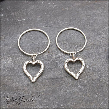 S/Silver Open Heart Earrings
