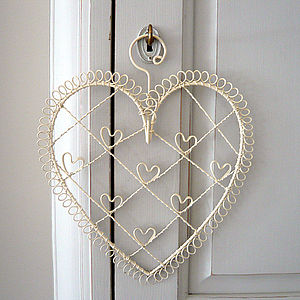 Small Wire Heart Photo And Memo Holder - home accessories