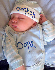 Cheeky Little Monkey Babygrow Gift Set