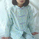 Girls Floral Chinese Style Cotton Pjs