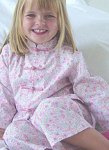 Girls Chinese Style Cotton Pjs - clothing