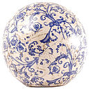 blue white ceramic ball