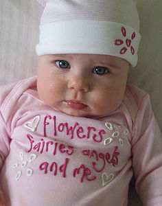 Flowers,Fairies,Angels And Me Gift Set - babygrows