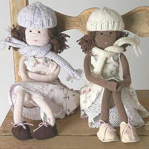 Hand-Knitted Rag Dolly - soft toys & dolls