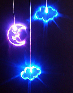 Moon And Clouds Mobile - decorative accessories