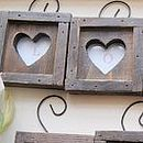 Wooden heart frame decoration