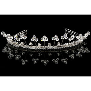 Pearl and Crystal Iris Tiara - women's jewellery