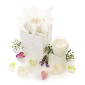 """Oo La La"" White Lavender Aromatherapy Candle - lights & candles"