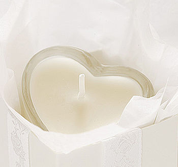 Candle Heart Favour